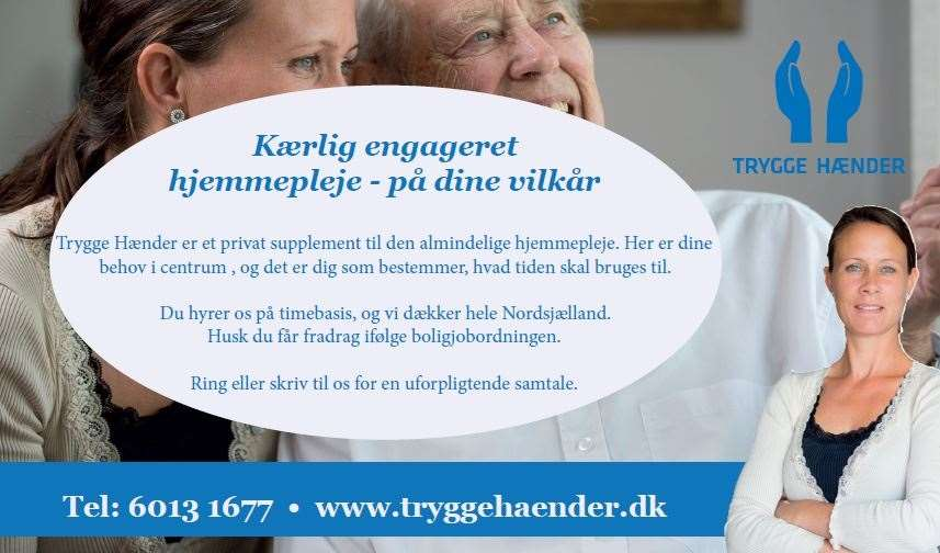 trygge hænder annonce